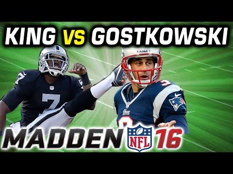 M. King vs S. Gostkowski @ QB - MADDEN 16 CHALLENGE