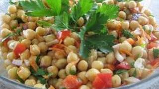 Recipe - Carrot Chick Pea Salad Recipe With English Subtitles