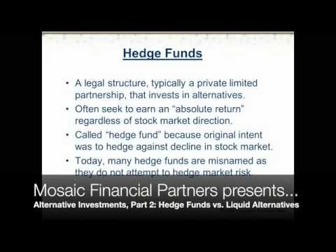 Alternative Investments Part 2 - Hedge Funds vs. Liquid Alternatives