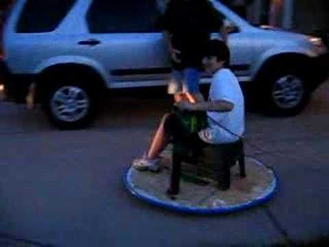 Caeden & Grandpa's Hovercraft-Seated
