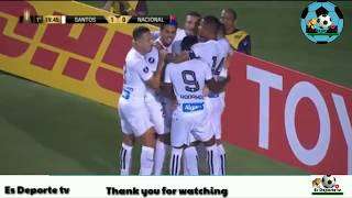 Video Gol Pertandingan Santos FC vs El Nacional