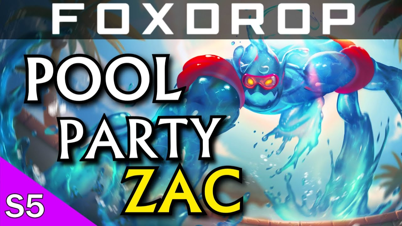 Pool Party Zac Jungle Gameplay League Of Legends Youtube