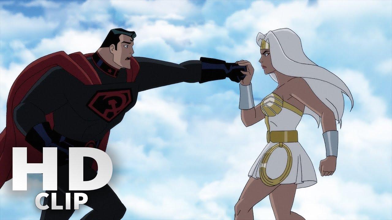 Superman Attacks Wonder Woman Superman Red Son Youtube
