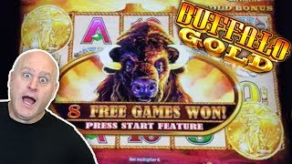 💰$36 BUFFALO GOLD BET! 💰8 Free Games Handpay! 💥| The Big Jackpot