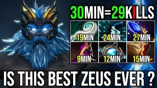 30Min=29Kills 50kDamage [Zeus] The Best Hero to Destroy MidLane By Freeze 7.19   Dota 2 FullGame