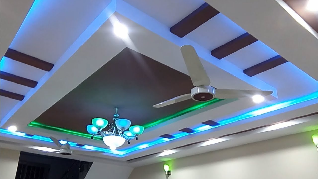 Latest gypsum ceiling designs for hall 2018 youtube for 2 by 4 design