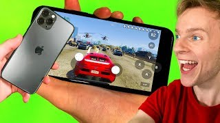 GTA 5 MOBILE - 10 STAR WANTED LEVEL!! (iPhone 11)