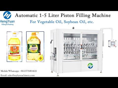 1-5 Liter Edible / Vegetable Oil Dispenser   Automatic Servo Motor Piston Filling Machine