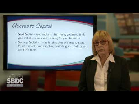 Florida SBDC Access to Capital Training Series: What You Need to Know (6 of 6)