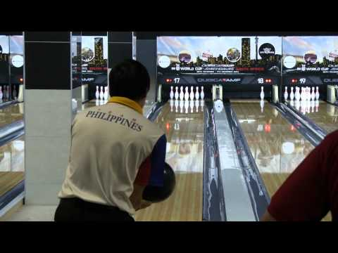 Biboy Rivera bowls a 300 at the 2011 Bowling World Cup in South Africa