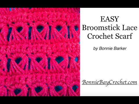 Broomstick Lace Crochet Scarf By Bonnie Barker Youtube