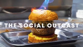 Unorthodox Charcoal-Grilled Halal Burgers: The Social Outcast