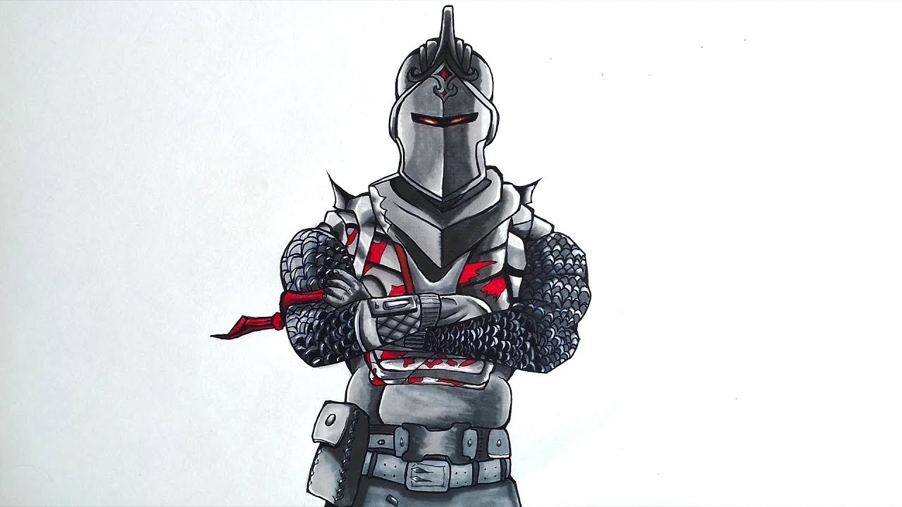 Drawing The Black Knight From Fortnite Pekart Youtube