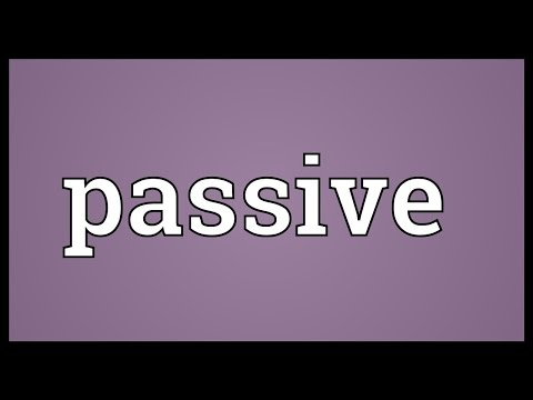 Passive Meaning