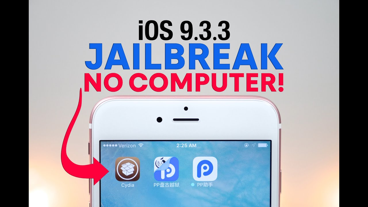 How To Jailbreak iOS 9.3.3 NO Computer! - YouTube