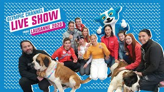 Day 10 - Olympic Channel Live Show ft. Zhang Hong & amazingly cute St. Bernard Dogs! | Lausanne 2020