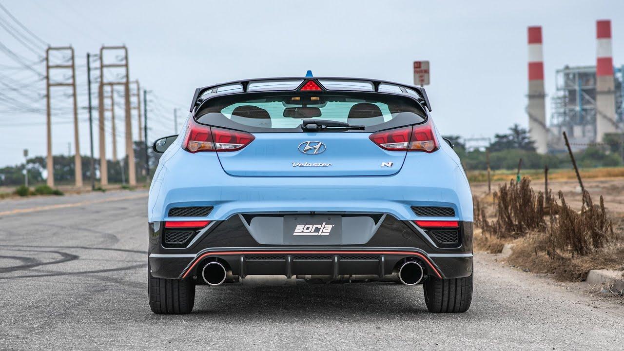 borla exhaust for the 2019 2020 hyundai veloster n