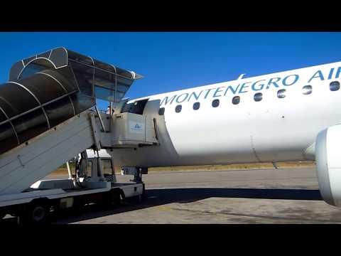 Tivat Airport - Montenegro Airlines Embraer ERJ-195LR 4O-AOB