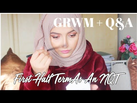 GRWM + Q&A | First half term as an NQT | The Blushing Giraffe