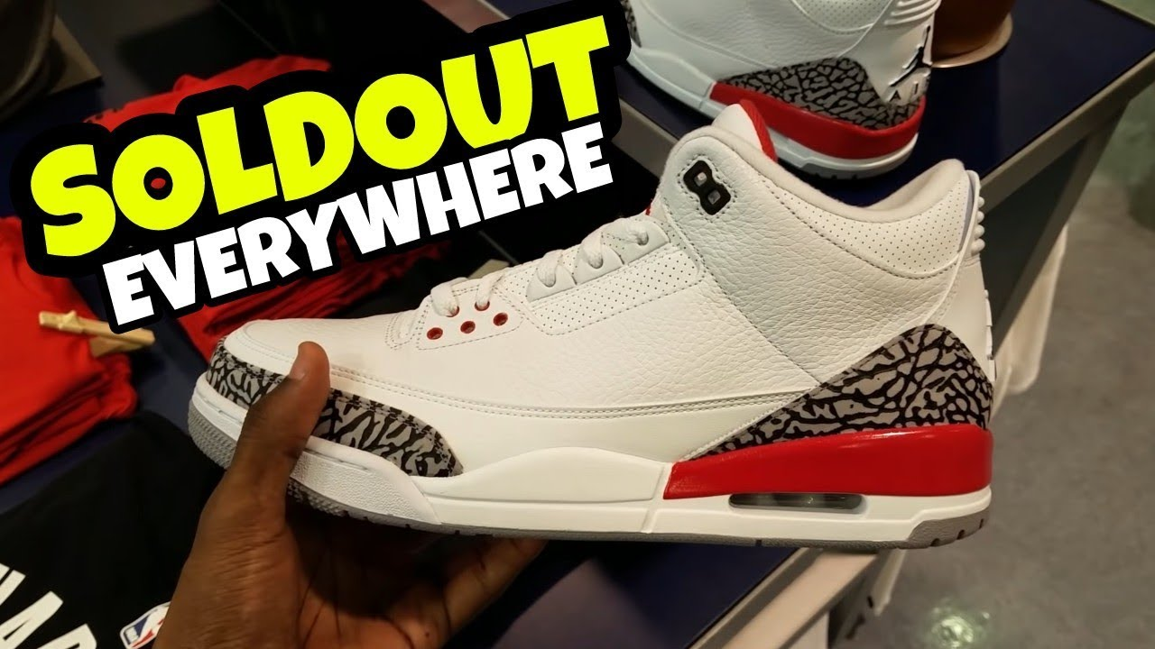 62079594aa8f I WAS RIGHT!! JORDAN 3 HALL OF FAME SOLDOUT EVERYWHERE MALL VLOG ...