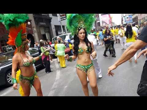 Samba Queens for Brazil Day New York City 2017    GaddahRa