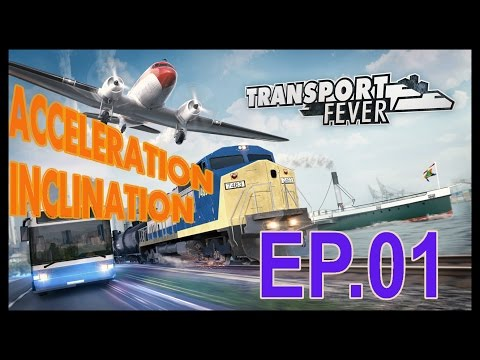 Transport Fever - Acceleration, Inclination Tests Ep.1 Baldwin's six-wheel