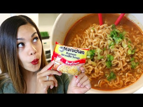 How to make a good chicken ramen with instant noodles into one