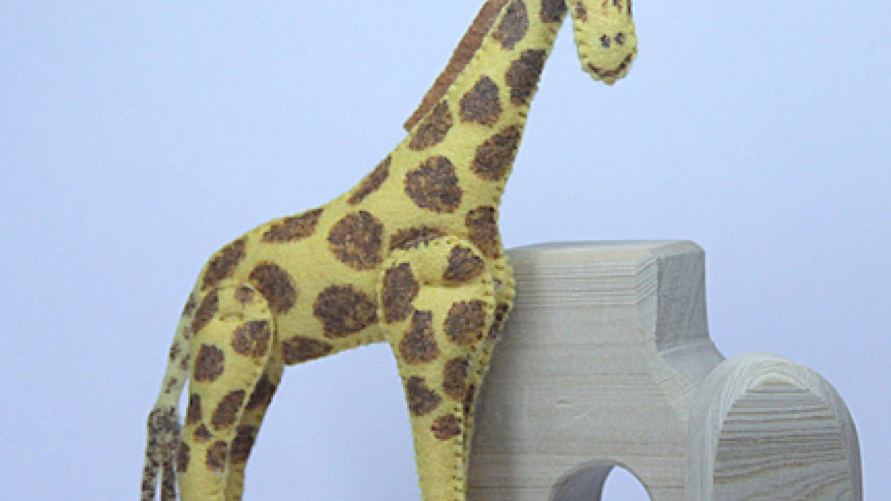 make a cute stuffed felt giraffe diy crafts guidecentral youtube