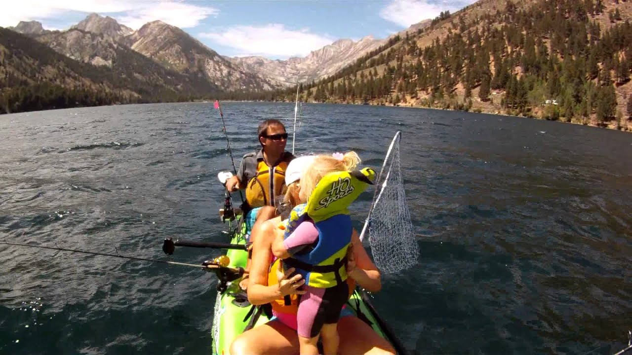 Twin lake kayak downrigger kokanee action youtube for Twin lakes fishing report