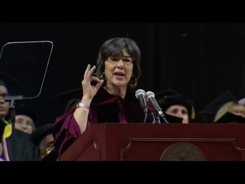 Christiane Amanpour delivers Northeastern University's 2017 Commencement Address