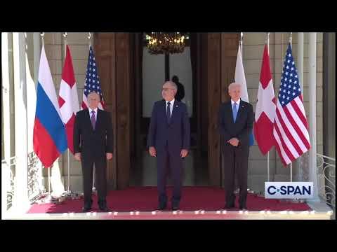 Remarks: Joe Biden and Vladimir Putin Exchange Handshakes Prior to Geneva Summit - June 16, 2021
