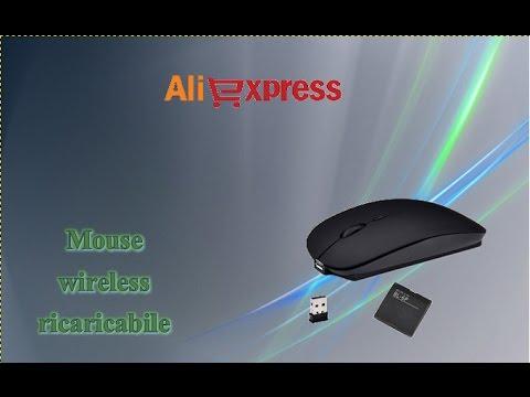 209ad63e7c7 Aliexpress haul unboxing - Mouse wireless ricaricabile / mouse senza fili