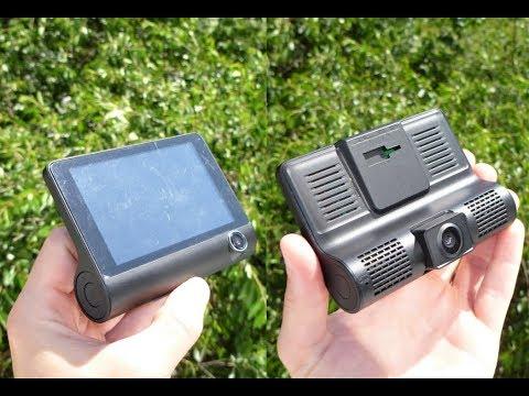 Недорогой видеорегистратор с AliExpress оснащенный сразу тремя камерами.ТЕСТ