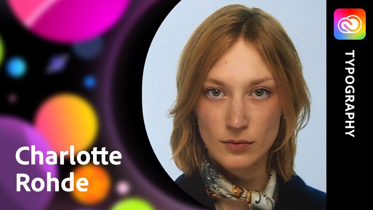 Typografie und Posterdesign mit Charlotte Rohde  Adobe Live