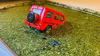 Various Cars Model falling Into The Water