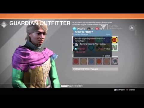 Destiny Alpha - Customization: Weapons, Armor, Stats, Shaders and More!