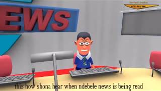 how shona fellas hear when ndebele news are being read