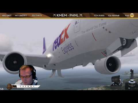 [P3Dv4] What A View!?!? | FedEx 777 Freighter into Beautiful Honolulu International