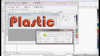 How to Apply Plastic Texture effect on Text in Corel DRAW