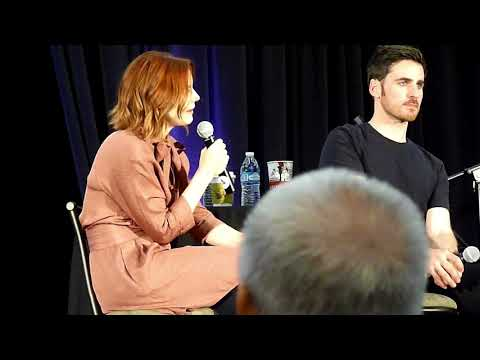 Jen and Colin Gold Panel OUAT Burbank