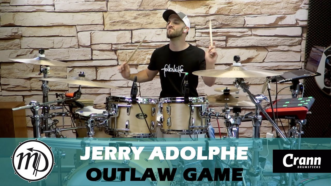 Outlaw Game - Jerry Adolphe - Drum Cover Drumeo (Blues) PEARL Maple Gum
