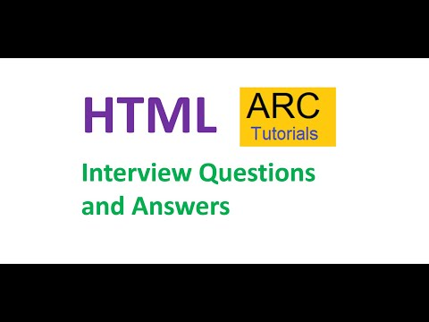 HTML Interview Questions And Answers | HTML Interview Questions For Freshers And Experienced