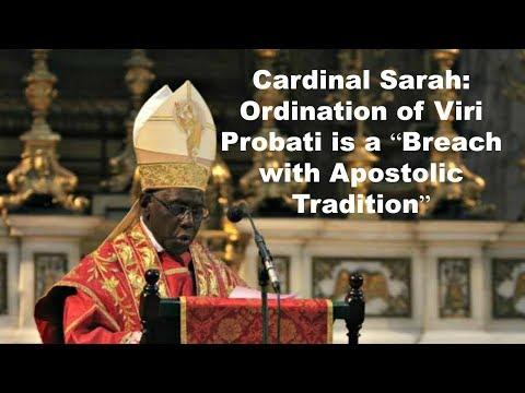 Cardinal Sarah Speaks on Married Priests