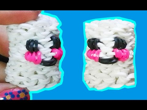 Loom bands charms MARSHMALLOWS 3D without rainbow loom videos with forks diy crafts for kids