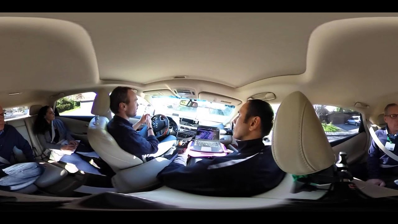 a 360 view inside google 39 s self driving car youtube. Black Bedroom Furniture Sets. Home Design Ideas