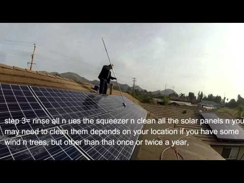 HOW TO CLEAN SOLAR PANELS AND SAVE TIME AND MONEY