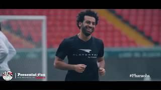 بالفيديو..محمد صلاح يعود للتدريبات البدنية مع المنتخب المصري