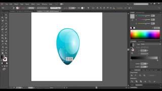 How to draw balloon in Adobe illustrator   Уроки воздушный шар