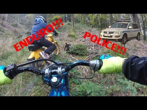 TOMOS POLICE GETAWAY / ANGRY GUY / HARD ENDURO / TRACTOR DRIFTING!!! (APN4, AVTOMATIK A3)