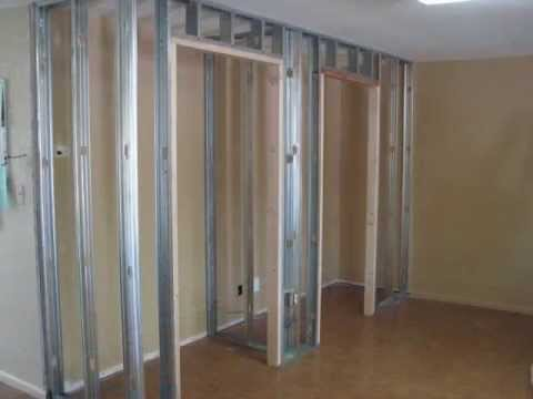 Adding a closet for extra space using metal framing and for Adding a walk in closet